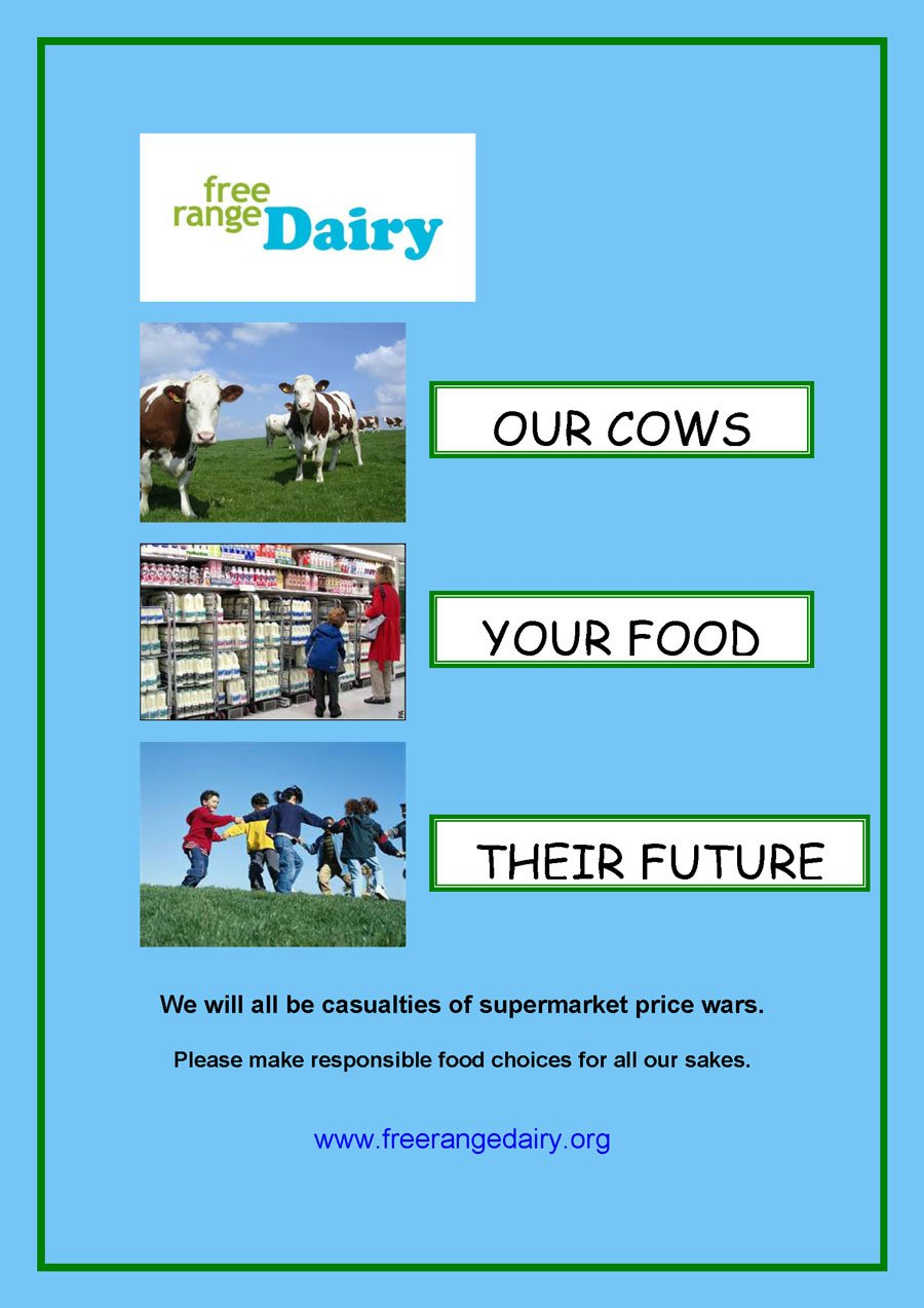 Free Range Dairy supermarket price wars poster