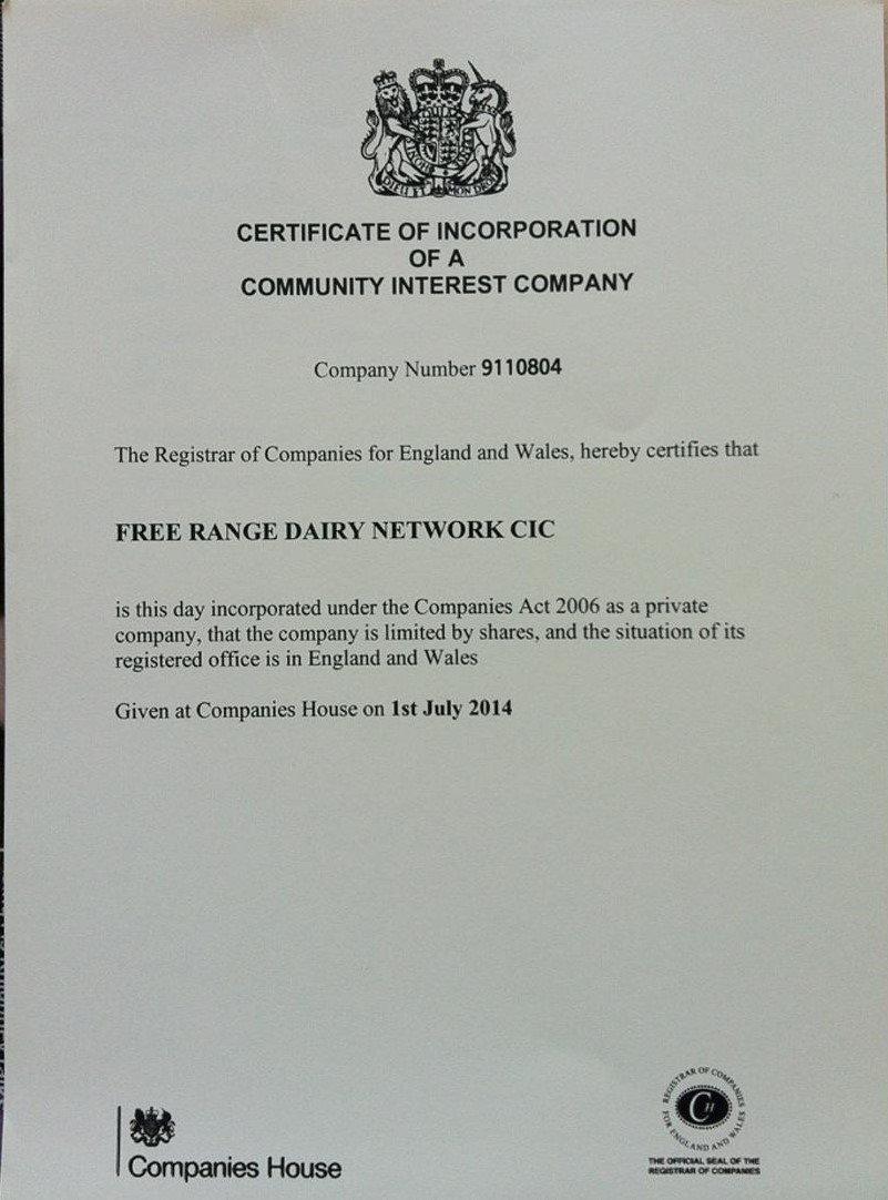 Free Range Dairy | CIC Company Registration