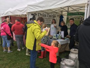 To show people tasting food at Yorkshire Dales Food & Drink Festival